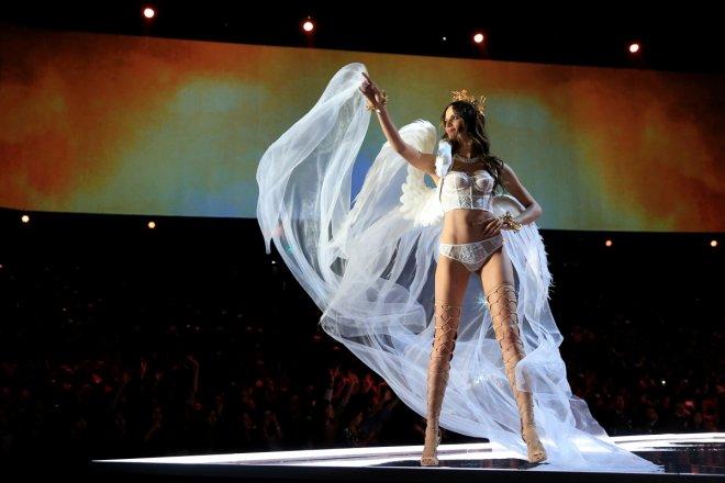Barbara Fialho presents a creation during the 2017 Victoria's Secret Fashion Show in Shanghai
