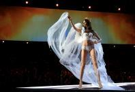Taylor Hill presents a creation during the 2017 Victoria's Secret Fashion Show in Shanghai