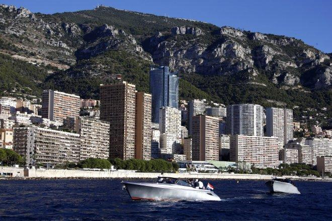 The Odeon tower building is seen in Monaco