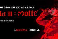 G-Dragon 2017 World Tour streaming on Kocowa