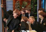 BTS members at The Ellen DeGeneres Show