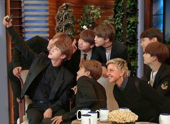 BTS members at The Ellen DeGeneres Show
