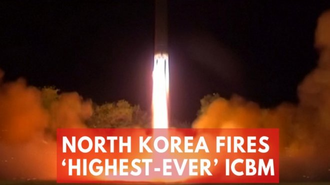 North Korea launches highest-ever ICBM that puts Washington, DC in range