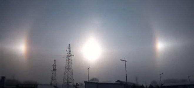 three suns in China