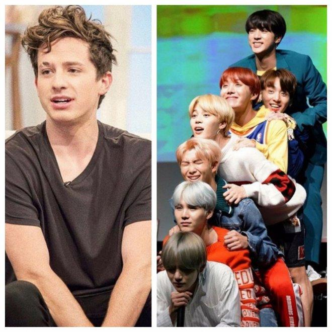 Charlie Puth(left), BTS(right)