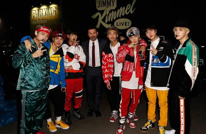 BTS with Jimmy Kimmel