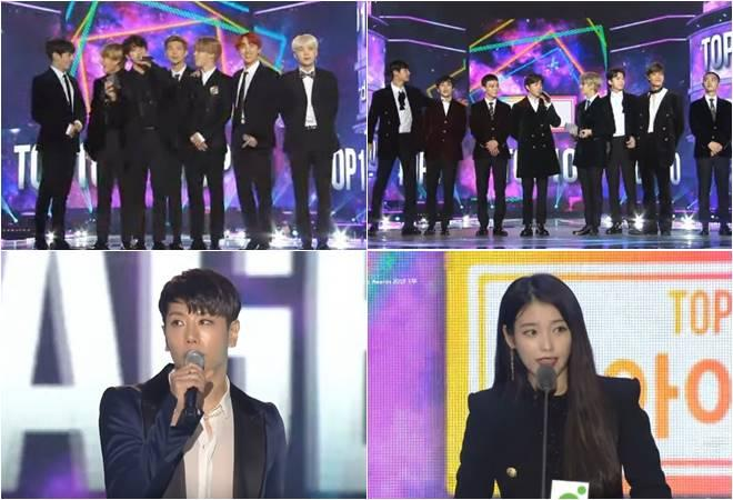 BTS, EXO, IU and Park Hyo Shin