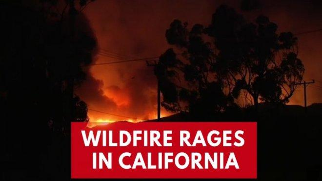 Growing wildfire threatens 600 homes north of Los Angeles