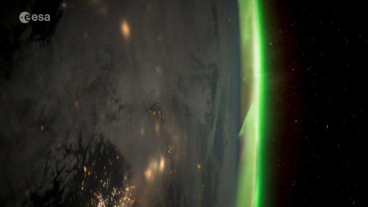 Astronaut captures aurora timelapse from space