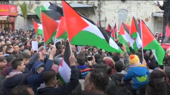 Protests against Trumps Jerusalem announcement around the world