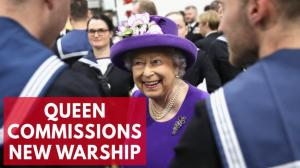 Queen commissions Britains most expensive aircraft carrier