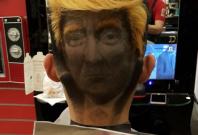 Donald Trump's hair tattoo