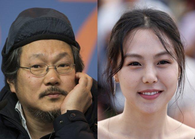 Director Hong Sang Soo and actress Kim Min Hee