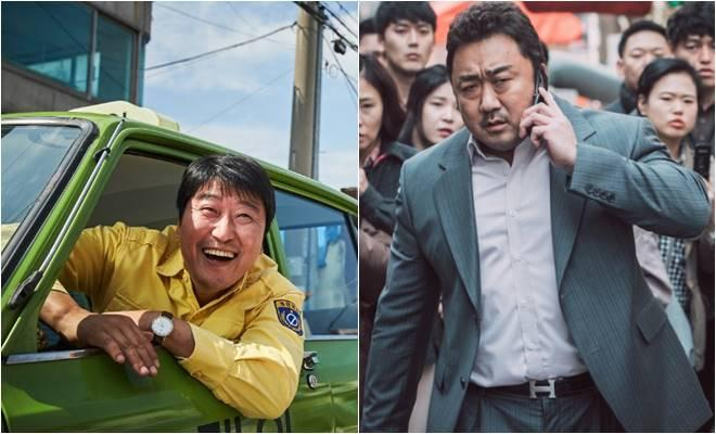 Song Kang Ho in 'A Taxi Driver' and Ma Dong Seok in 'The Outlaws' (Korean Film Council)