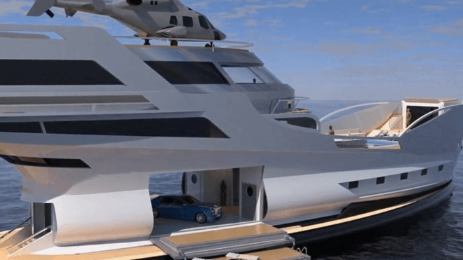 Luxury yacht Caronte