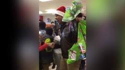 Barack Obama surprises children with Christmas presents