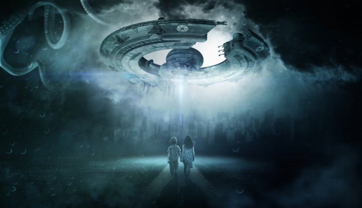 Alien and human contact