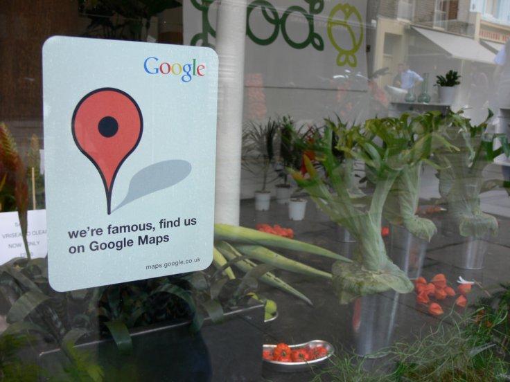 Flower shop on Google Maps