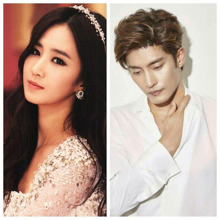 Girl's Generation's Yuri(right), Sung Hoon(left)