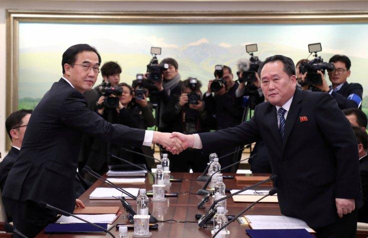 North Korea and South Korea meeting