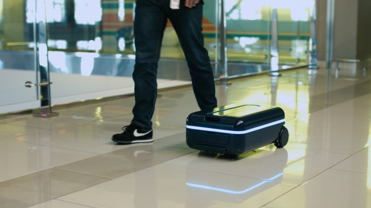 Meet the self-driving suitcase that will automatically follow its owner through airport