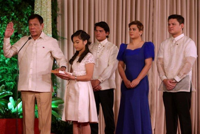 Rodrigo Duterte sworn in as the President of Philippines