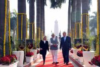 Prime Minister, Shri Narendra Modi and the Prime Minister of Israel, Mr. Benjamin Netanyahu, at Teen Murti Chowk