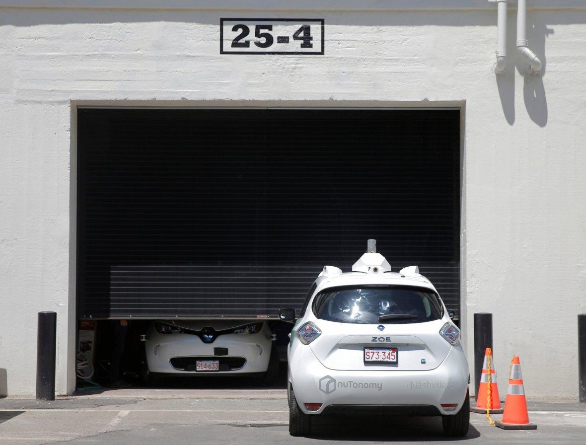 A self-driving car being developed by nuTonomy, a company creating software for autonomous vehicle