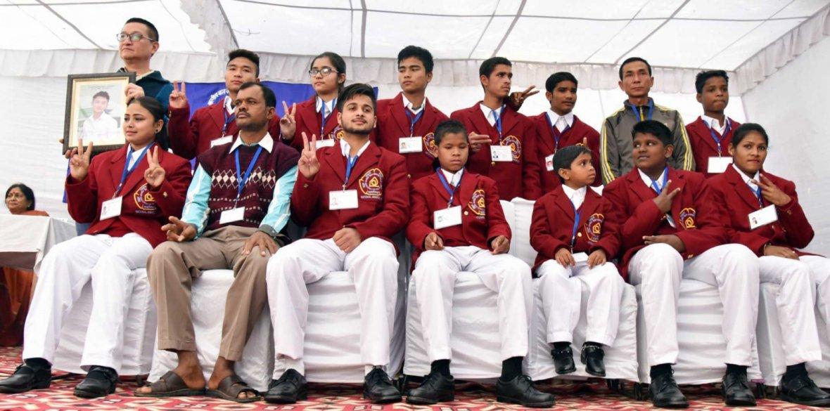 New Delhi: National Bravery Award 2017 winners at a press preview in New Delhi on Jan 18, 2018.