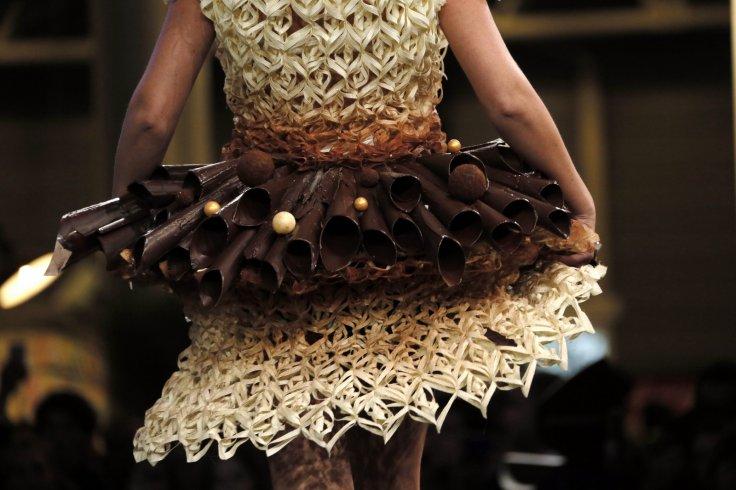 A model presents a creation at the 20th Salon du Chocolat, (Paris Chocolate Show) in Paris October 28, 2014.