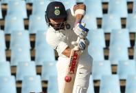 Indian skipper Virat Kohli in action