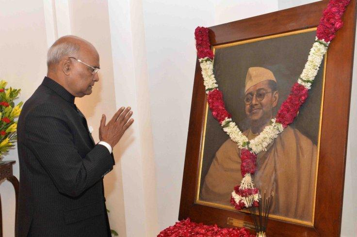 President Ram Nath Kovind pays tributes to Netaji Subhas Chandra Bose on his birth anniversary
