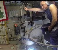 Riding vacuum cleaner in space