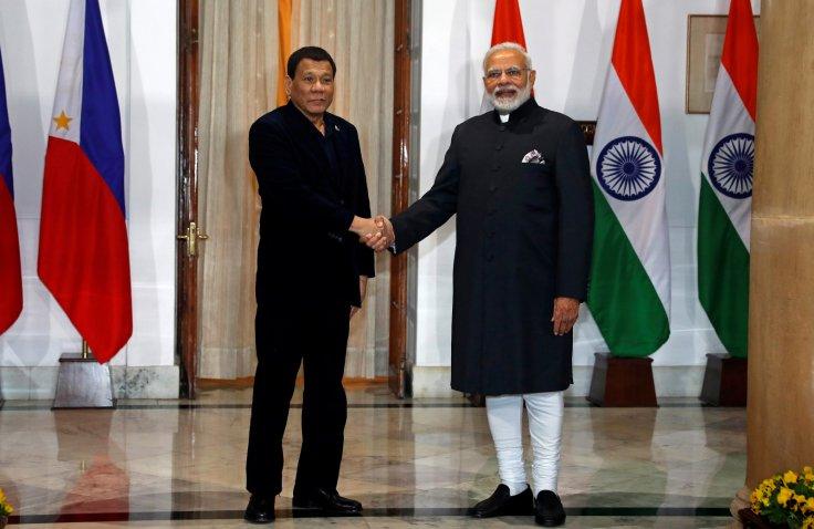 Indian PM Modi with Philippines President Duterte