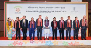 Prime Minister, Narendra Modi with the ASEAN Heads of State/Governments and ASEAN Secretary Genera