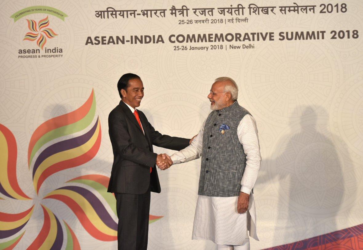 Prime Minister  Narendra Modi with the President of Indonesia, Mr. Joko Widodo