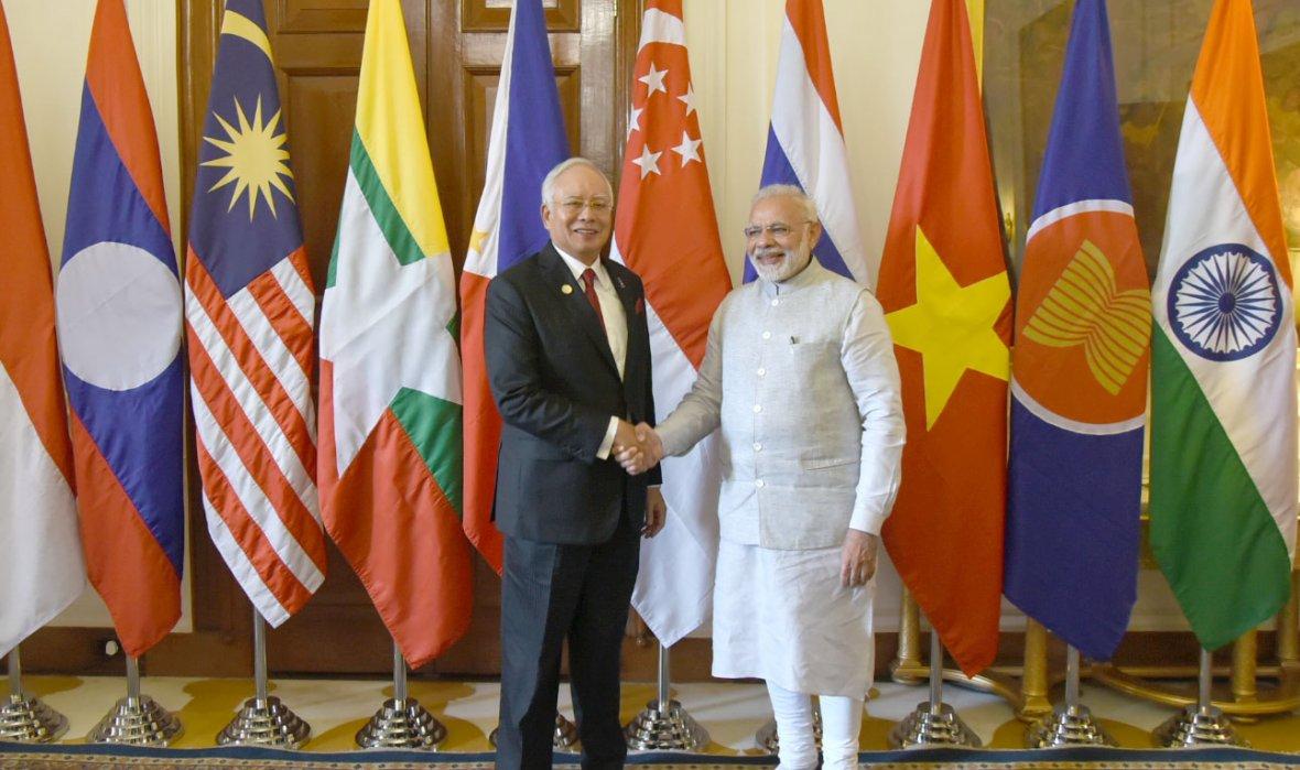 Prime Minister Narendra Modi with the Prime Minister of Malaysia, Dato' Sri Mohd Najib Bin Tun Abdul Razak,