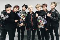 BTS holding their awards