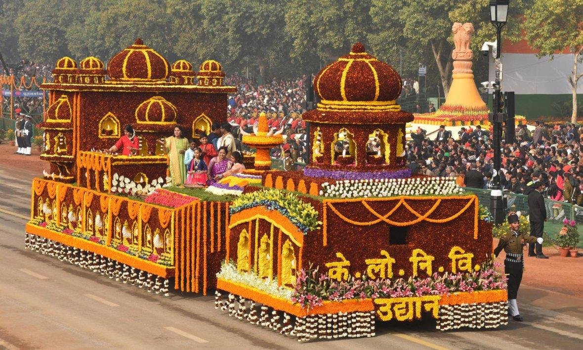 Tableau of the Department of CPWD passes through the Rajpath