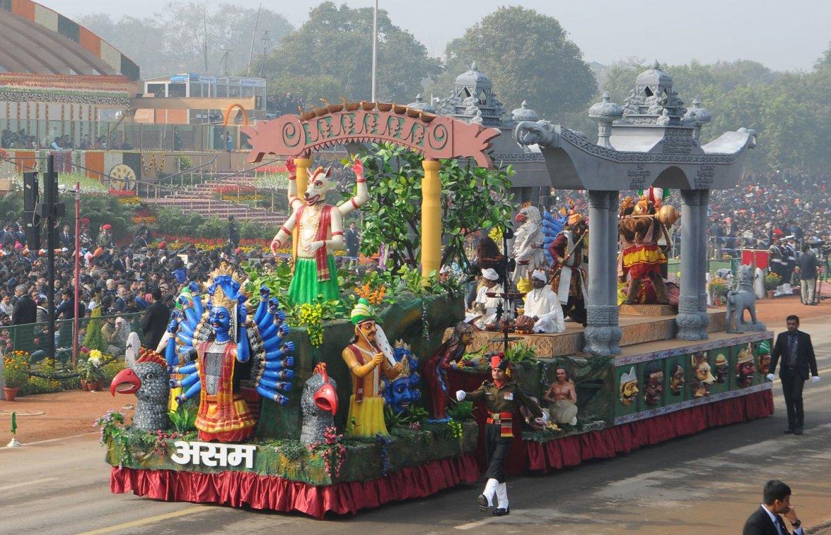 Tableau of Assam passes through the Rajpath