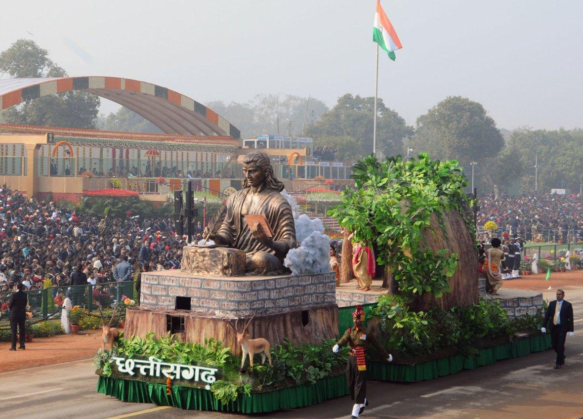 Tableau of Chhattisgarh passes through the Rajpath