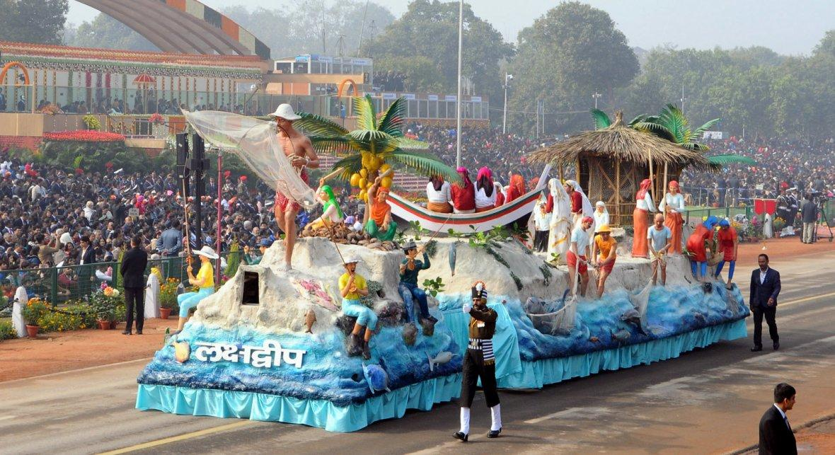 Tableau of Lakshadweep passes through the Rajpath