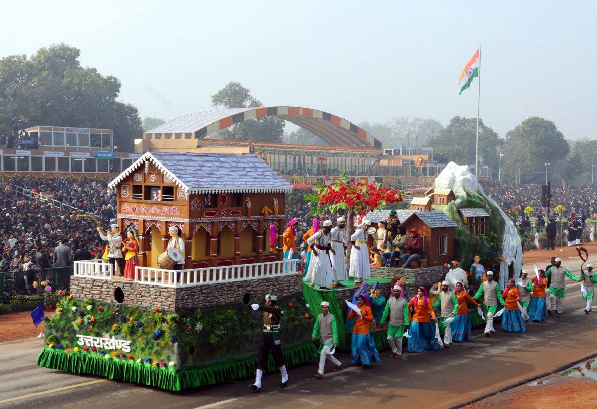 Tableau of Uttarakhand passes through the Rajpath