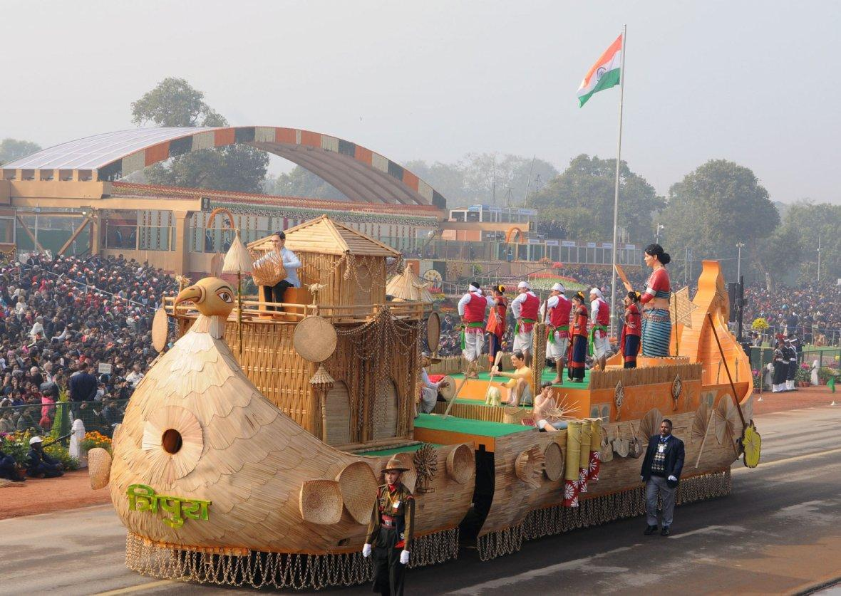 Tableau of Tripura passes through the Rajpath