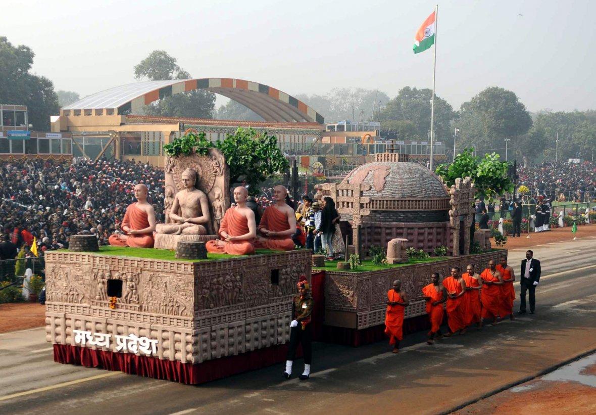 Tableau of Madhya Pradesh passes through the Rajpath