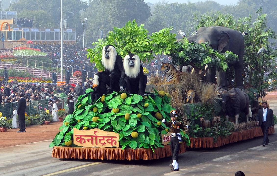 Tableau of Karnataka passes through the Rajpath
