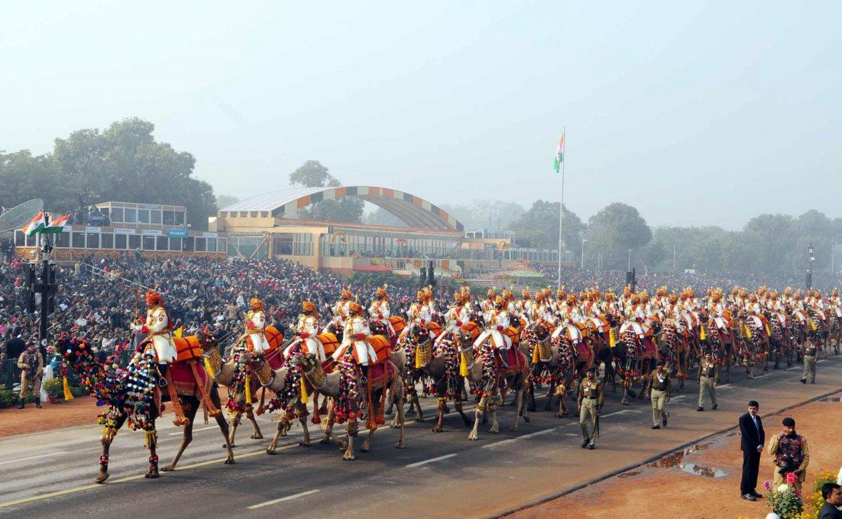 BSF Camel Contingent passes through the Rajpath