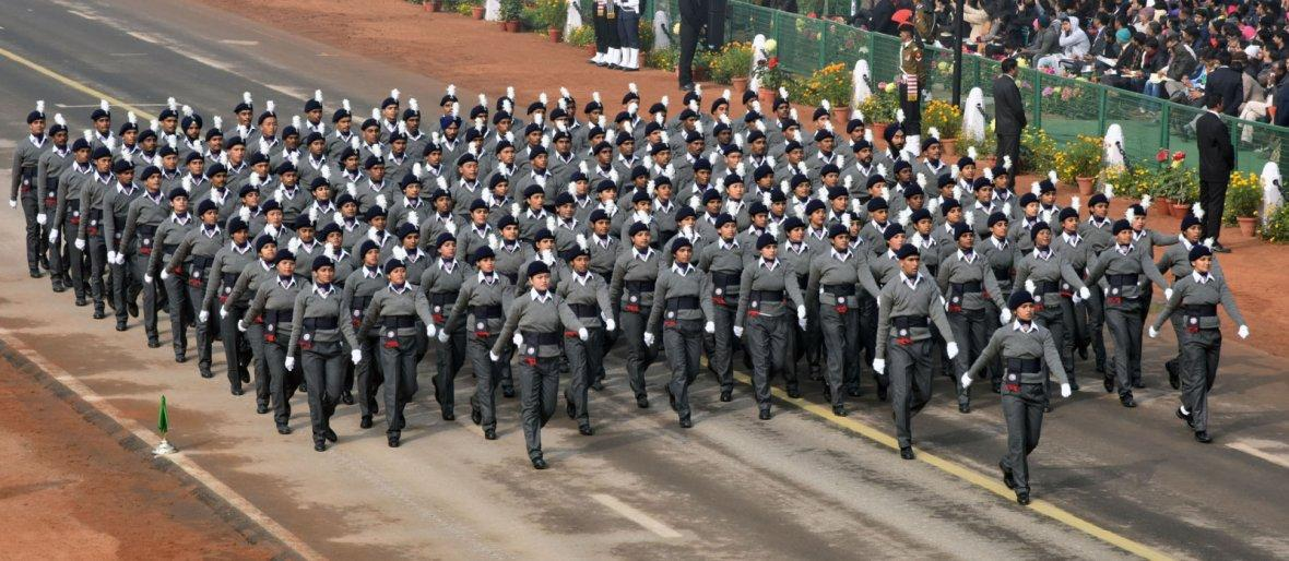 National Service Scheme Marching Contingent passes through the Rajpath