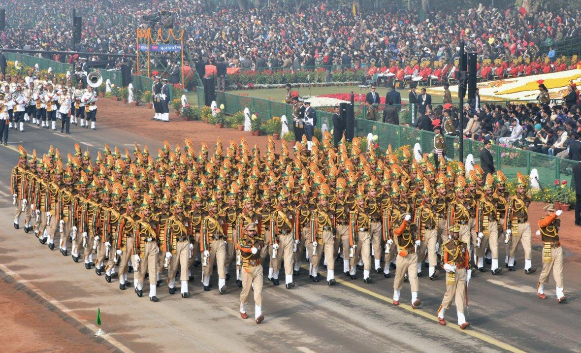 ITBP Marching Contingent passes through the Rajpath