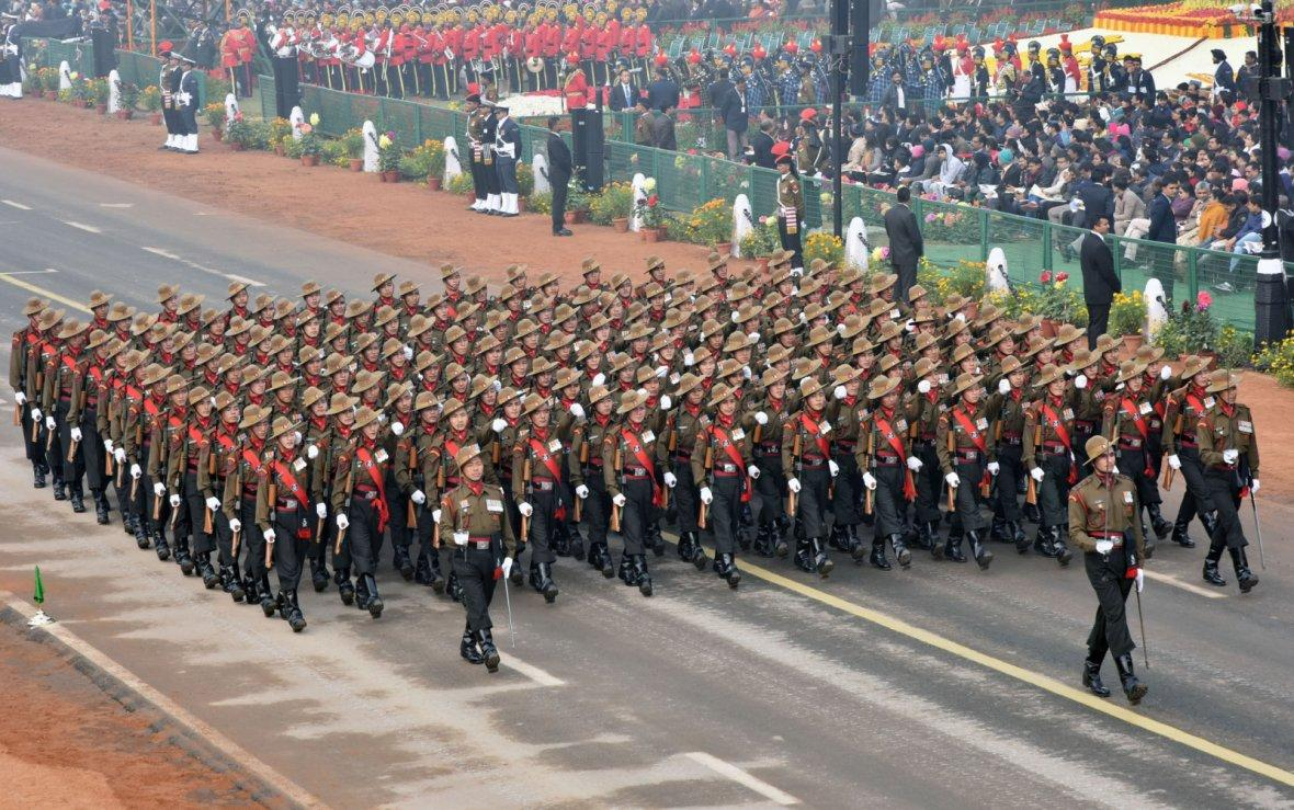 Ladakh Scouts Marching Contingent passes through the Rajpath